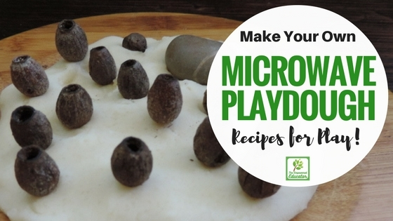 Easy microwave playdough recipe to make at home - safe for baby and toddler play!
