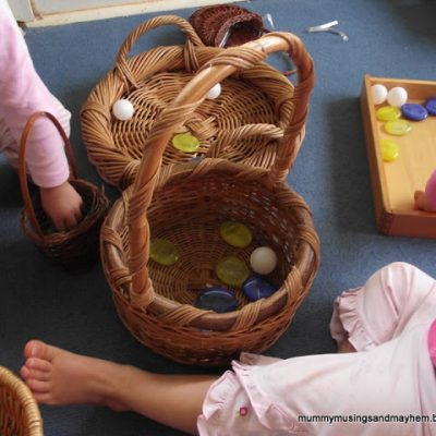 Basket Creativity….toddler style!