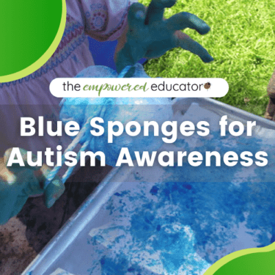 Blue Sponges for Autism Awareness
