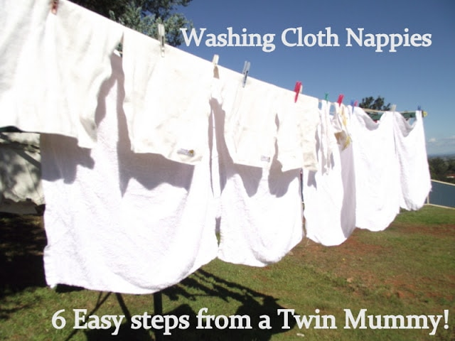 Cloth Nappying Twins….6 easy washing tips!