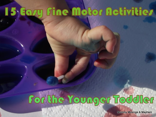 Easy Fine Motor Fun for Younger Toddlers!