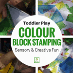 Toddler Foam Block Shape Stamping!