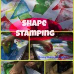 Toddler Foam Block Shape Stamping!