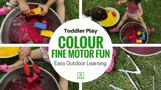 Toddler Tongs and Water Play!
