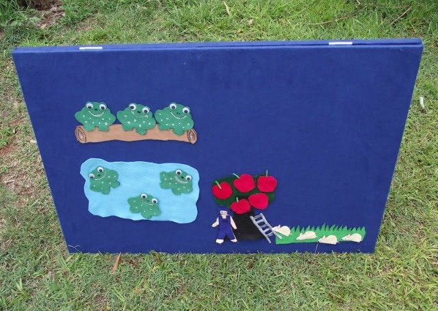 Make your own double sided feltboard for play and learning with these simple steps. Easy project for early childhood educators, teachers, homeschoolers and parents!