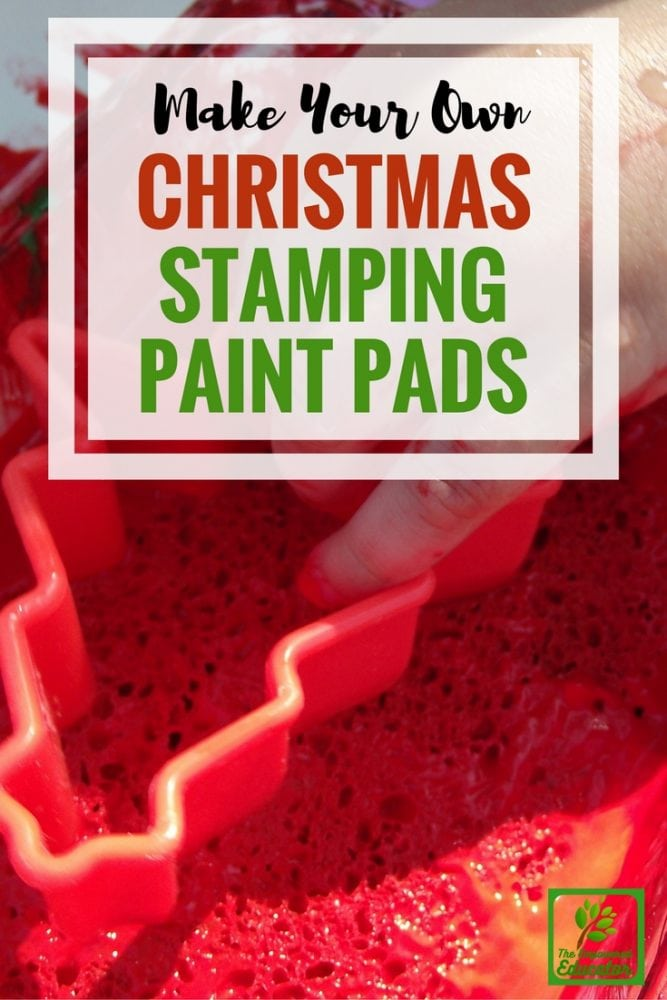d out how to make your own paint stamping sponge pads and use a few simple tools to help toddlers create their own Christmas prints and wrapping paper.