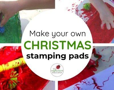 Christmas Sensory Stamping!