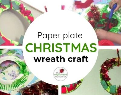 Easy Toddler Christmas Wreaths!