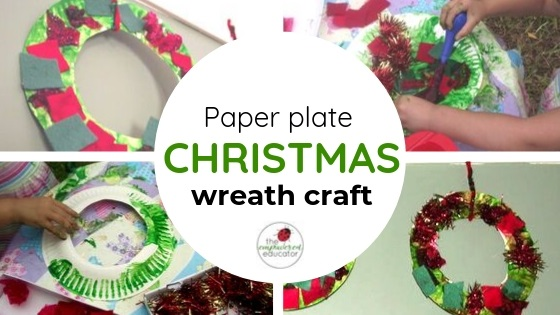 paper plate christmas wreath craft fine motor christmas fun for toddlers