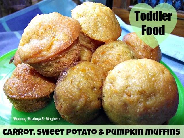 Toddler Food – Carrot, Pumpkin & Sweet Potato Muffins!