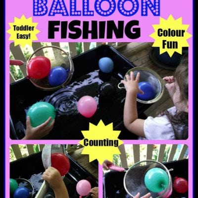 Balloon Fine Motor Fishing Fun!