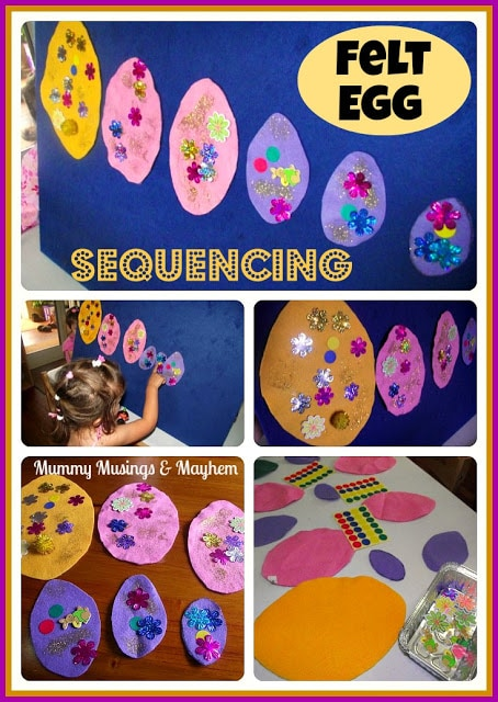 Felt Egg Fine Motor & Sequencing!