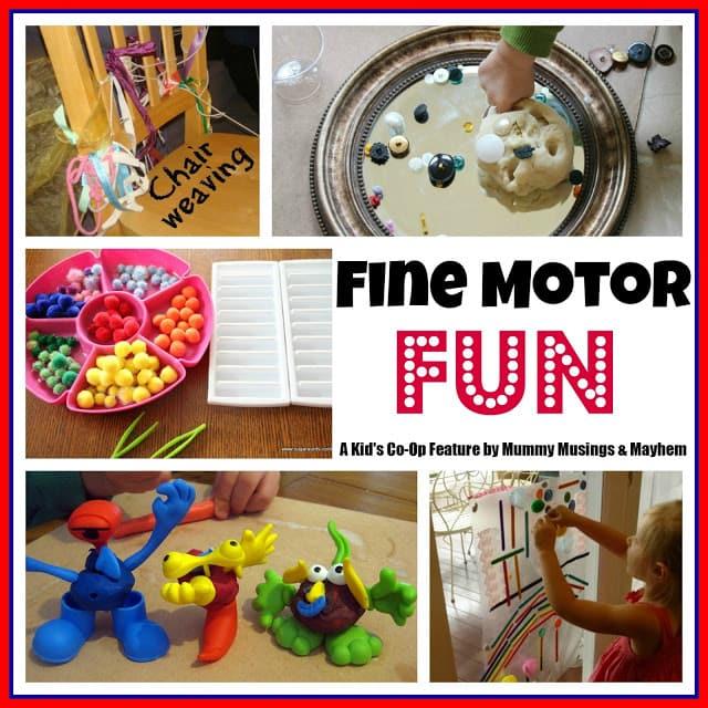 Weekly Kid's Co-Op – Fine Motor Fun!