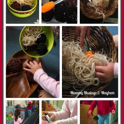 Spaghetti & Meatballs….A Fine Motor Toddler Twist!
