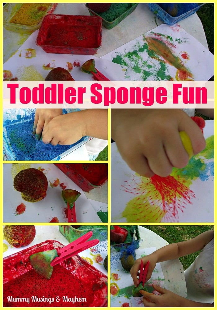 Toddler fine motor painting