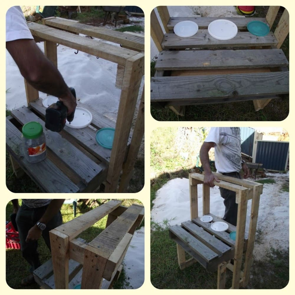 Building a toddler sand kitchen