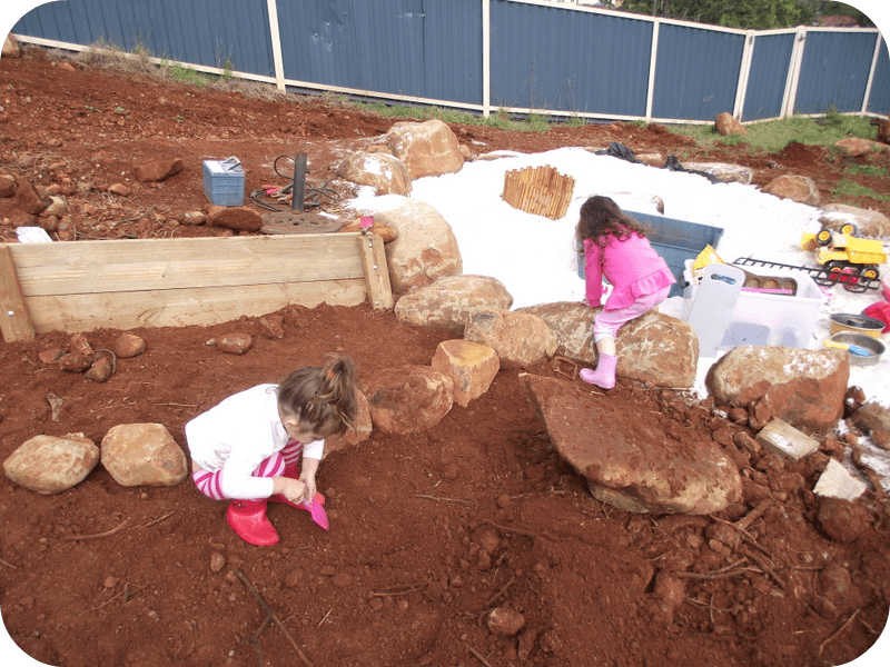 toddler sandpit construction