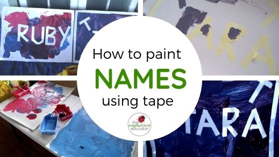how to paint names using tape feature