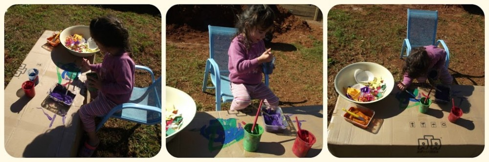 Simple art activities outside for unwell children - Mummy Musings and Mayhem