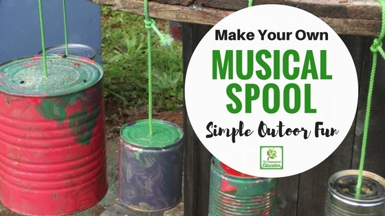 Natural Playspaces Series – Building a Musical Spool Table!