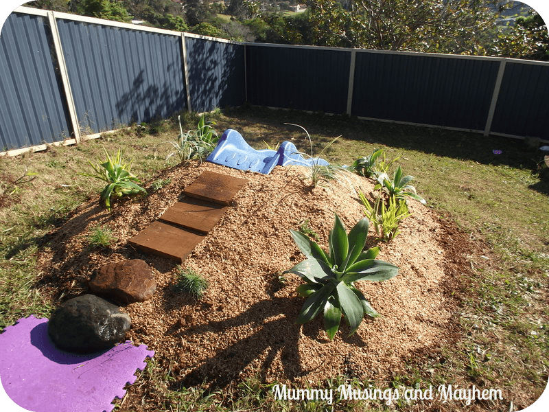Natural Playspaces - Building a Mound Slide via Mummy Musings and Mayhem