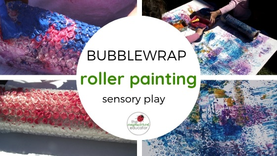 bubblewrap roller painting