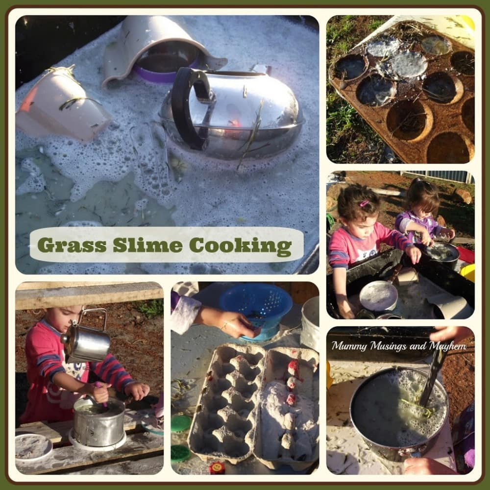 Sensory Grass Slime Whisk & Cook - Mummy Musings and Mayhem