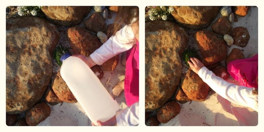 Toddler Recycled Sprinkler Bottle via Mummy Musings and Mayhem