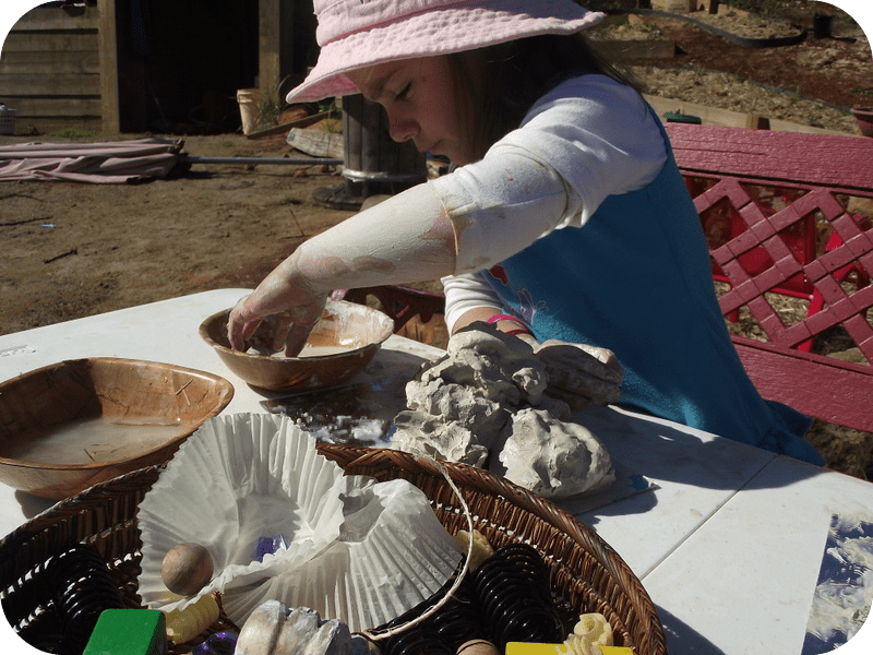 Clay Exploration with Natural Materials - Mummy Musings and Mayhem