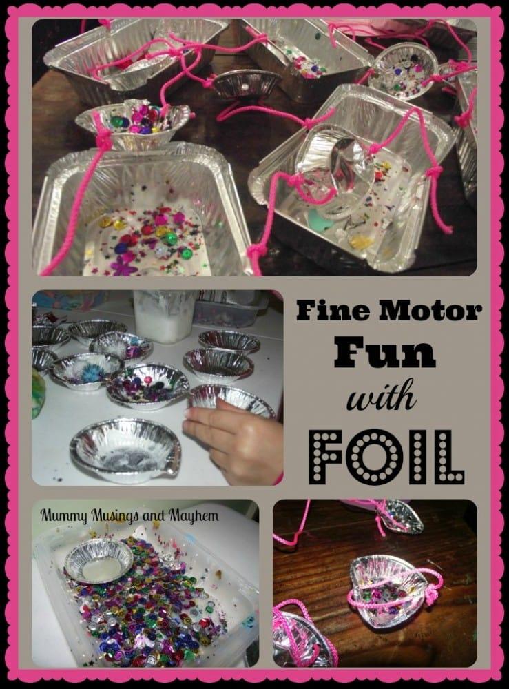 Fine Motor Stick & Sew Mobiles - Mummy Musings and Mayhem