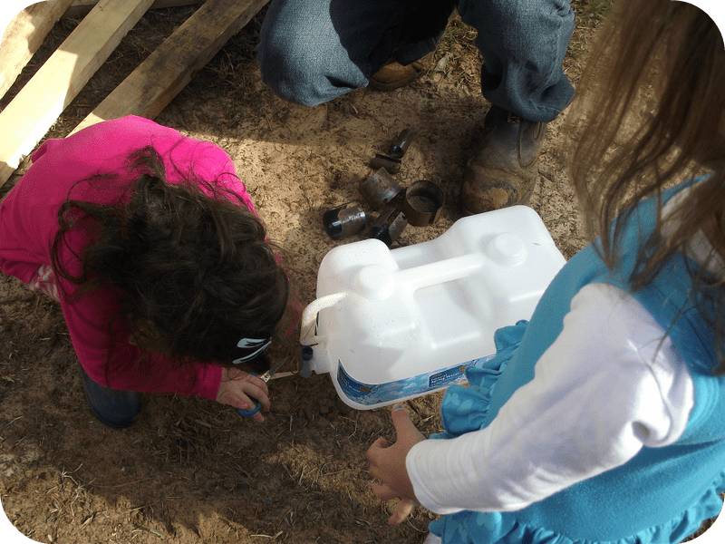 DIY water play in the sandpit - Mummy Musings and Mayhem