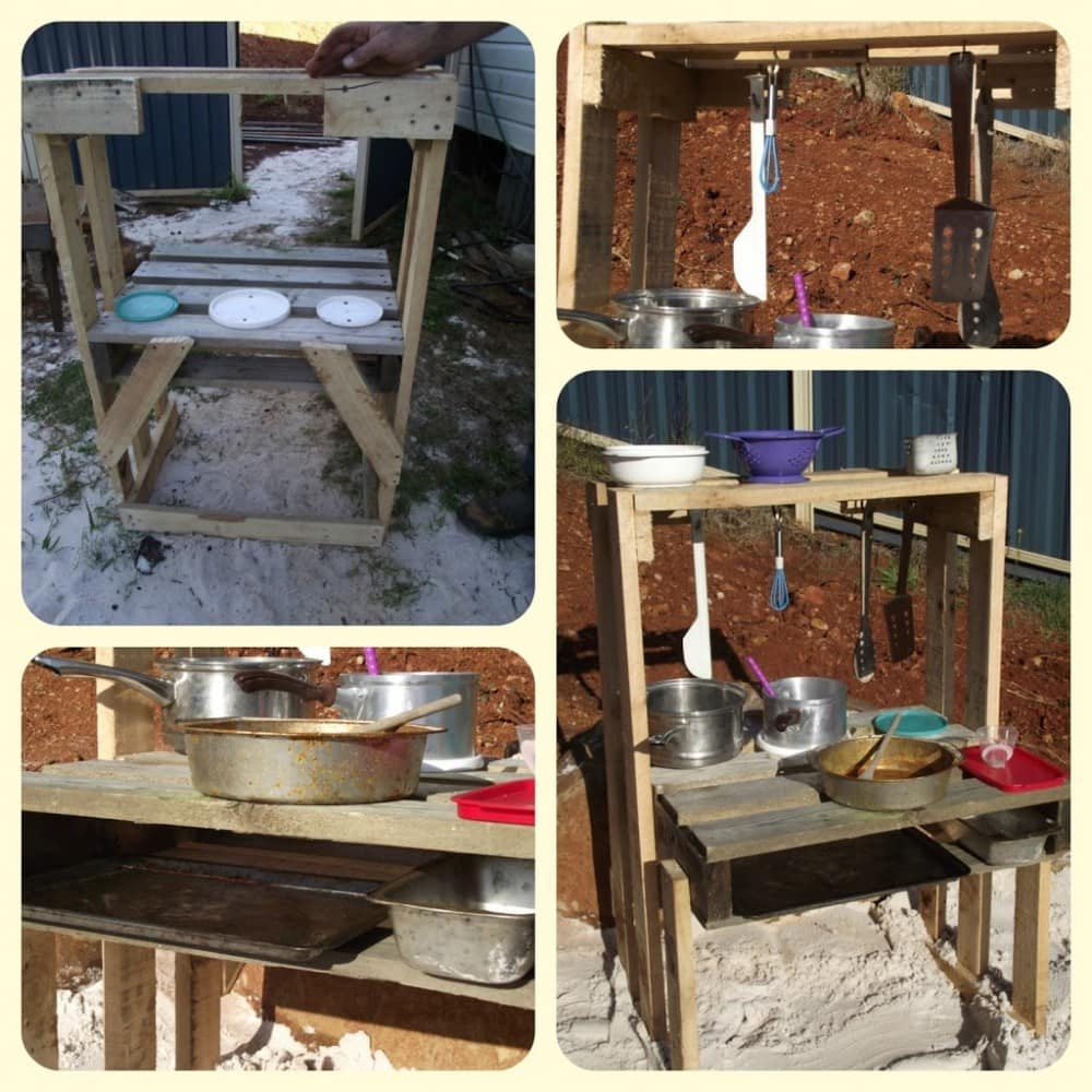 Easy Pallet Sand Kitchen Fun