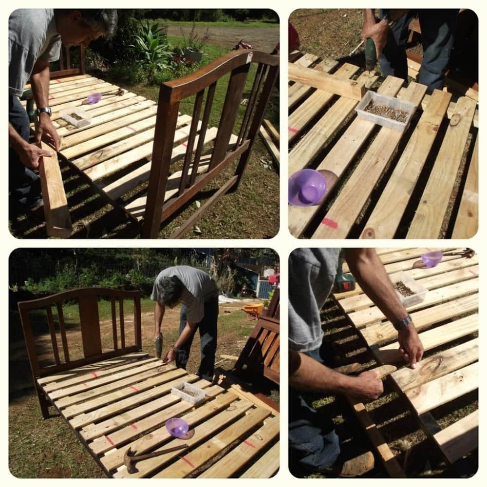 Easy pallet bed slats