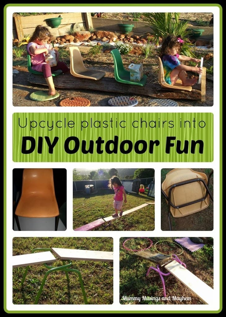 DIY Natural Playspaces – Chairs, Buses and Climbing Frames!