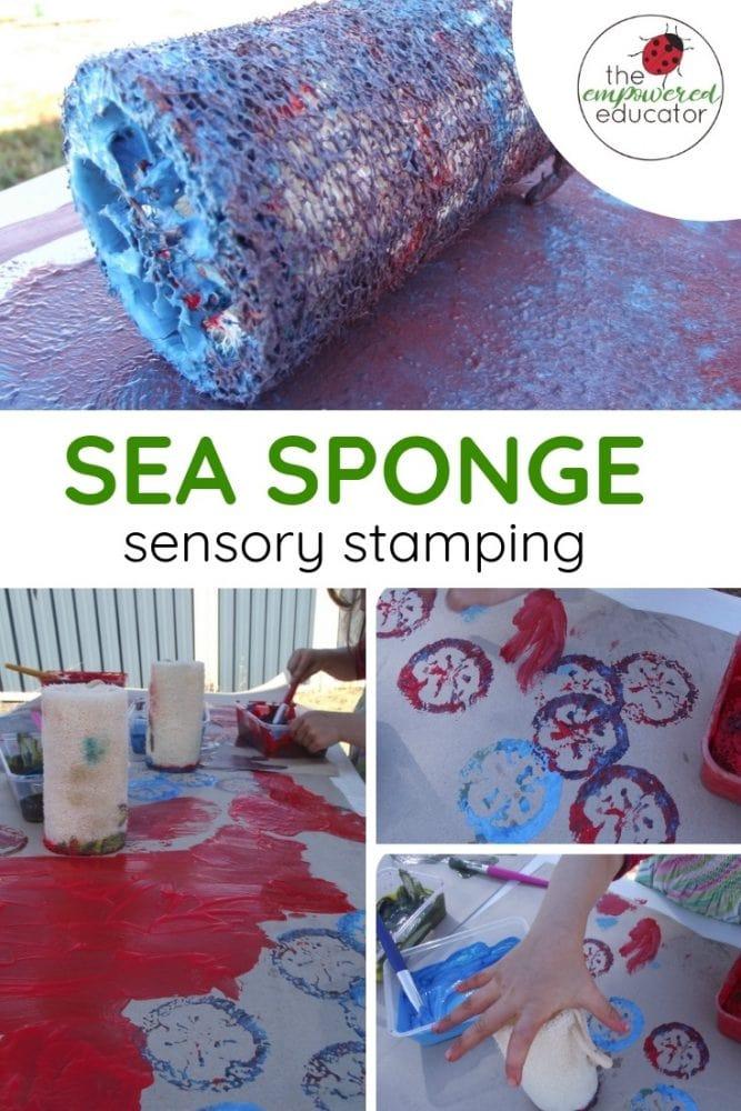 sea sponge sensory stamping pinterest