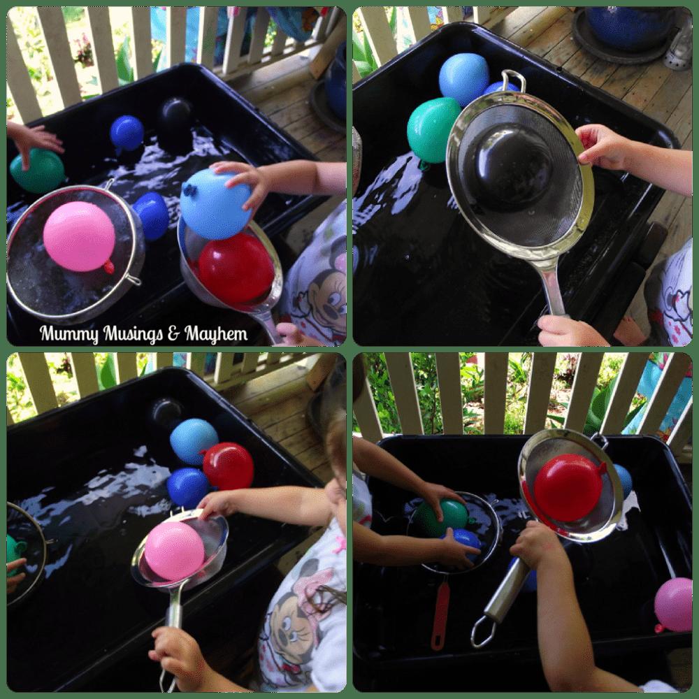 Toddler fine motor water play