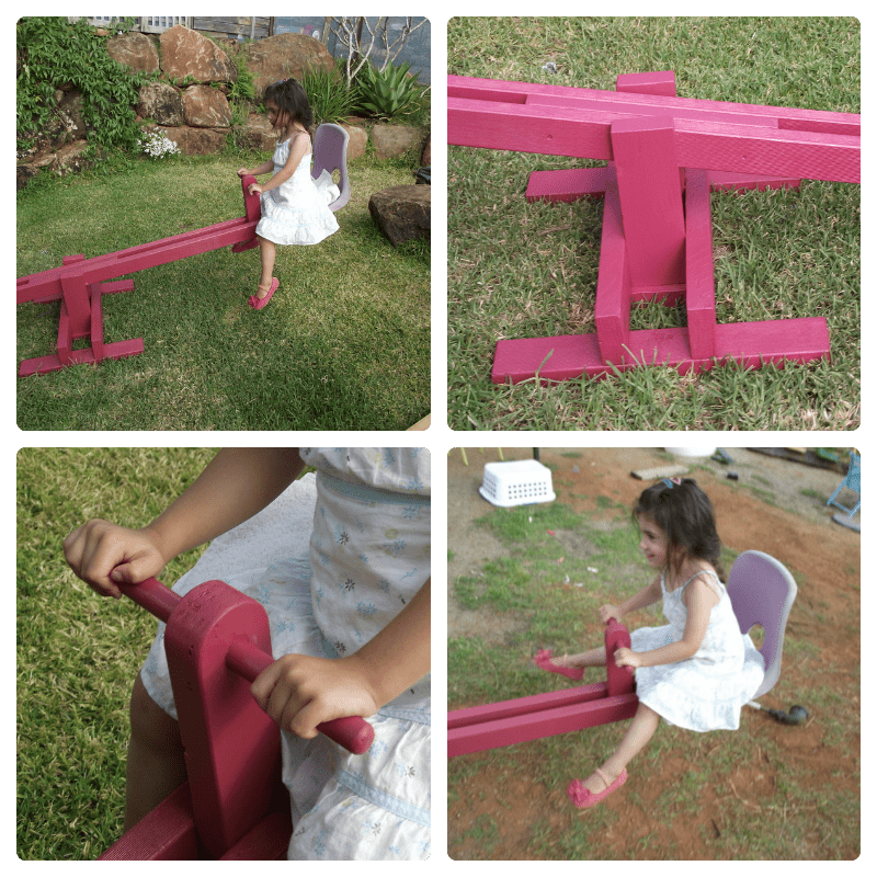 DIY Recycled seesaw - Mummy Musings and Mayhem