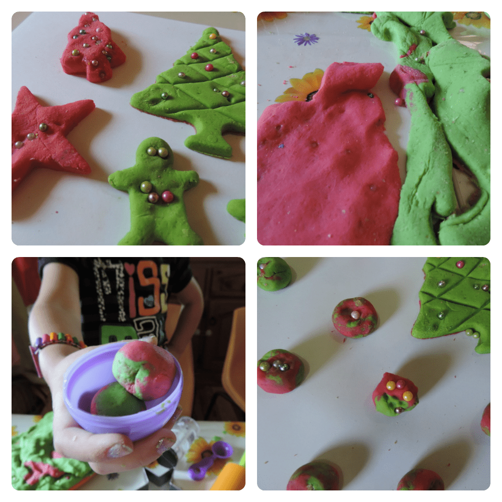 Quick and easy Christmas bauble playdough- a fun fine motor and sensory activity for all ages!