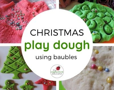 Fine Motor Fun – Christmas Bauble Playdough