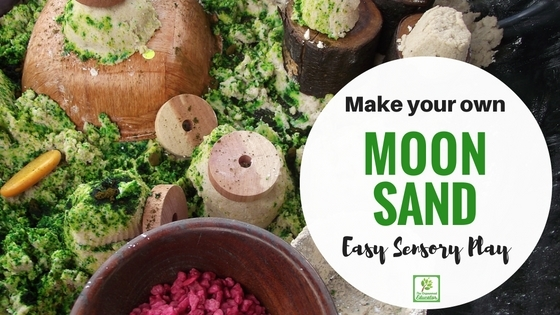How to make your own Sensory Moon Sand