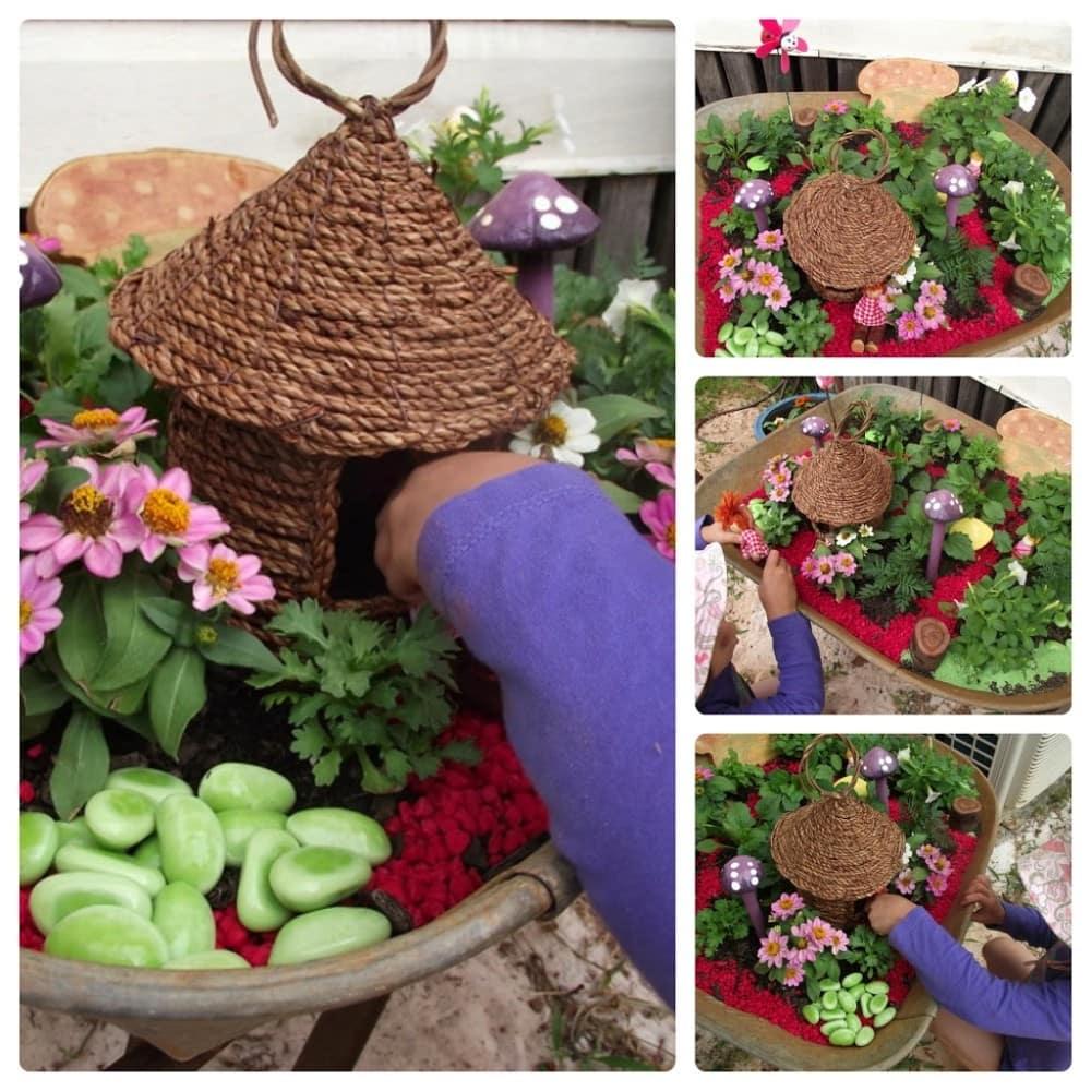 Christmas themed fairy garden by Mummy Musings and Mayhem