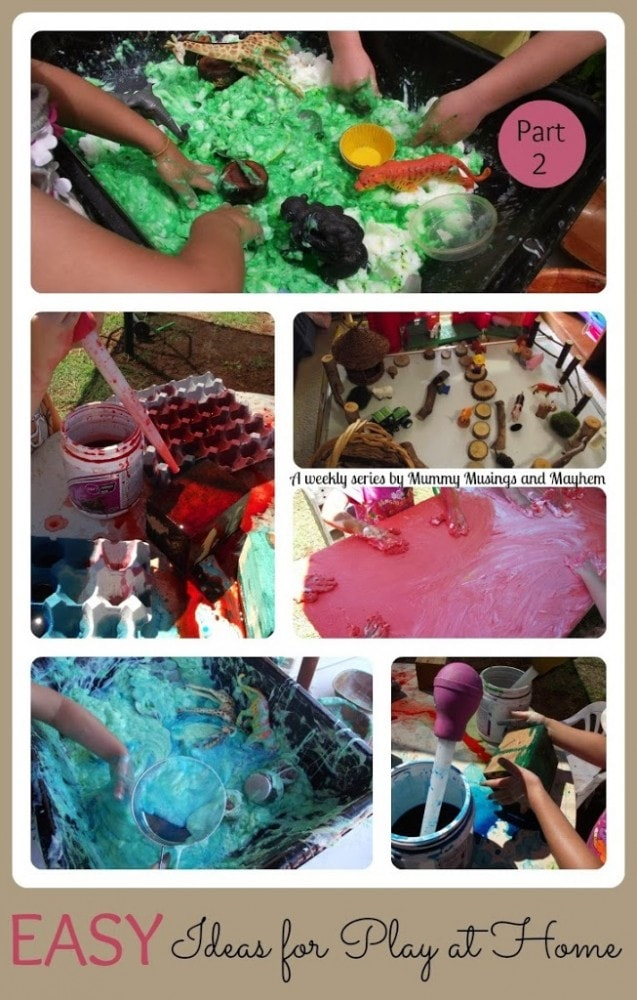 Easy play ideas and inspiration for play and learning at home - Mummy Musings and Mayhem