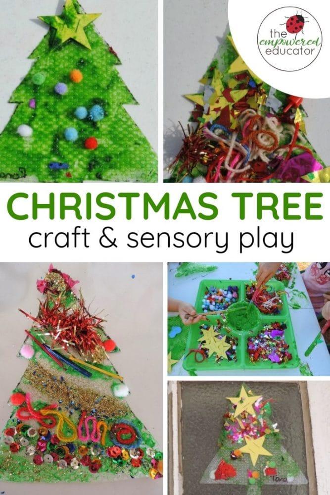 christmas tree sensory play and craft pinterest