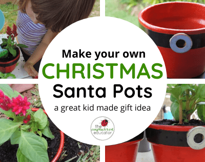 Santa Flower Pots…Easy DIY Gifts for Family!