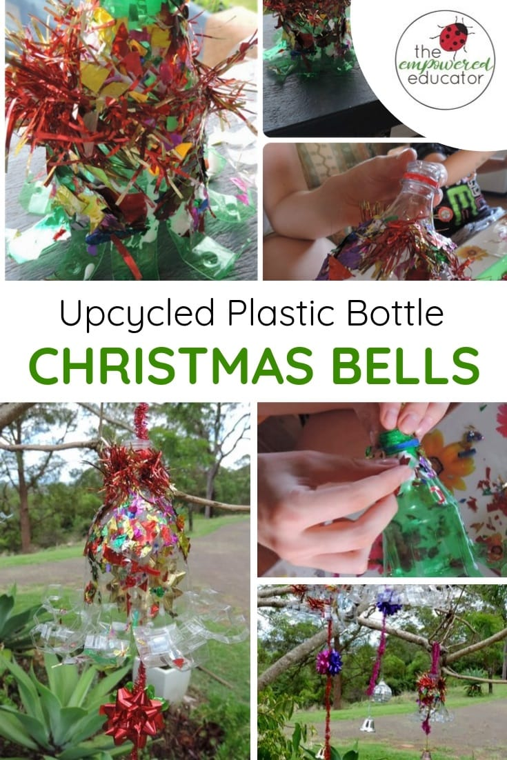upcycled plastic bottle chrismas bell craft for early learning pinterest