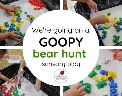 We're going on a Goopy Bear Hunt…..Fine Motor Sensory Fun!
