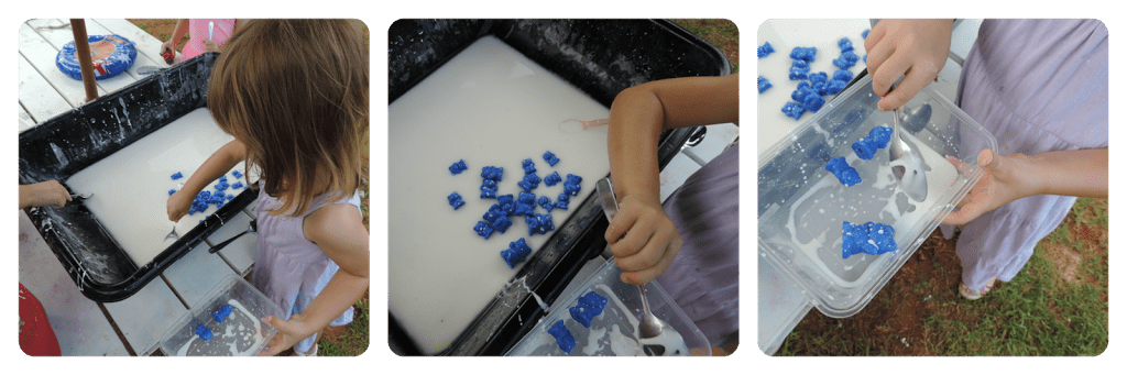 Going on a Goopy Bear Hunt..A fun sensory activity incorporating fine motor skills, cokour recognition, classification and counting. Mummy Musings and Mayhem