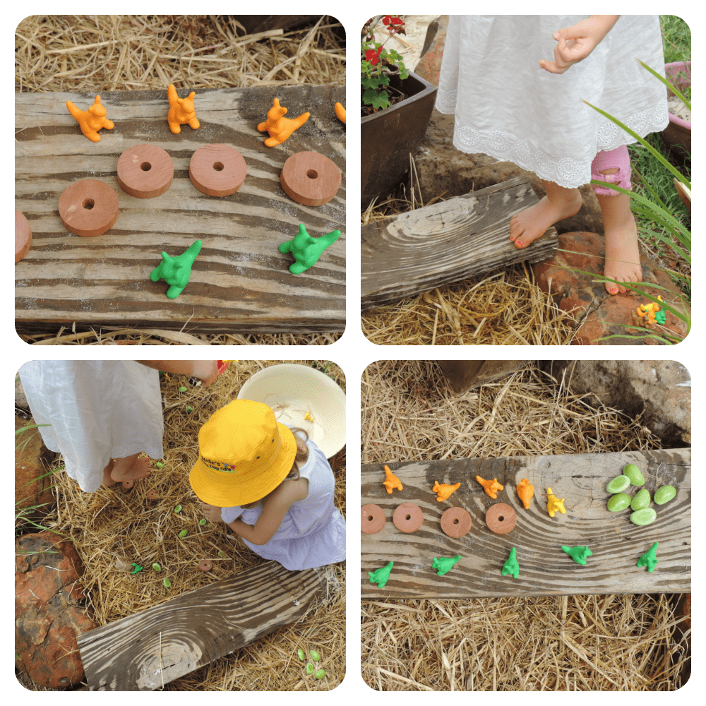 Outdoor fine motor , colour, count and sort treasure hunt game by Mummy Musings and Mayhem