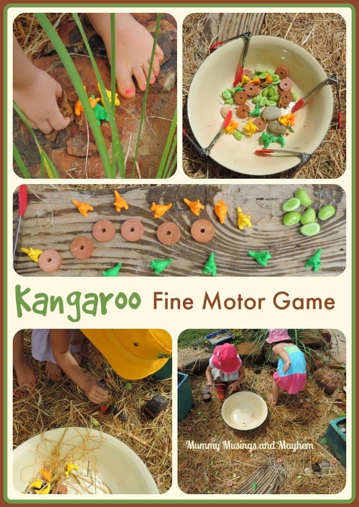 Kangaroo Fine Motor Tong Treasure Hunt !