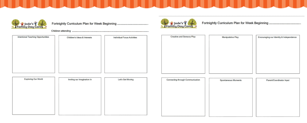 Program Template For EYLF Outcomes Educators - Play program template